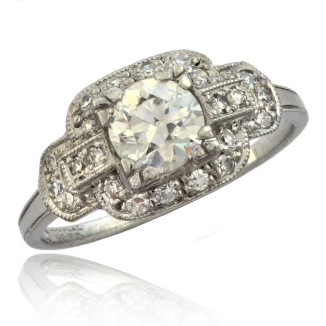Art Deco Platinum Diamond Ring Image