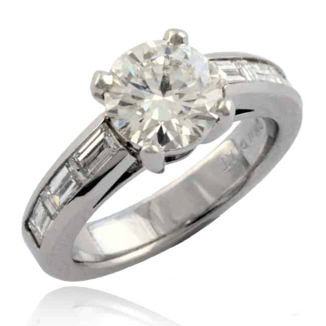 Cathedral Diamond Ring Image
