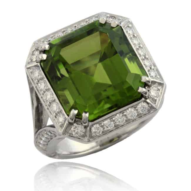 Peridot & Diamond Ring Image