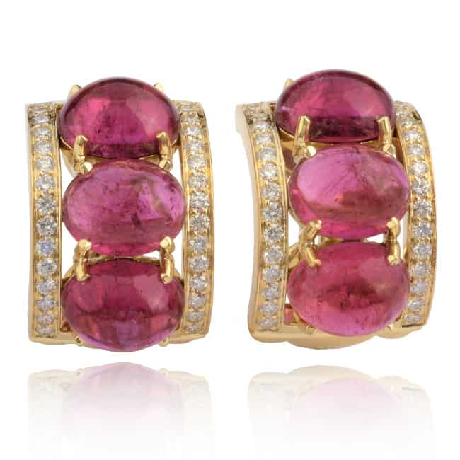 Tourmaline & Diamond Earrings Image