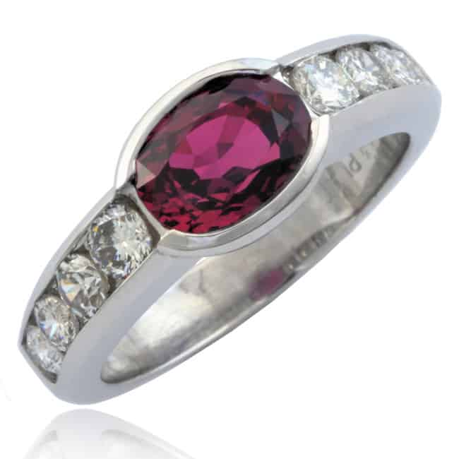 Oval Ruby & Diamond Ring Image