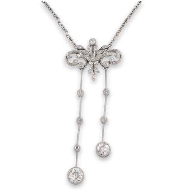 Edwardian Diamond Necklace Image