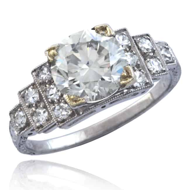 Art Deco Diamond Ring 1-1385 Image