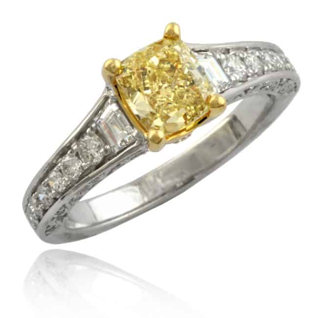 Fancy Yellow Diamond Ring 1-1855 Image