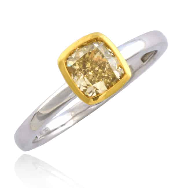 Fancy Yellow Diamond Solitaire Ring 1-1856 Image
