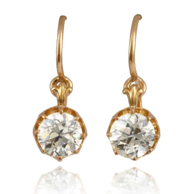 Antique Diamond Earrings 17-2227 Image