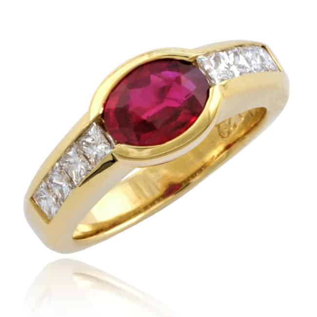 Oval Ruby & Diamond Ring 23-679 Image