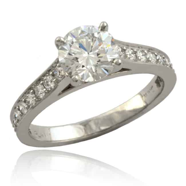 Cathedral Diamond Engagement Ring 23-700 Image