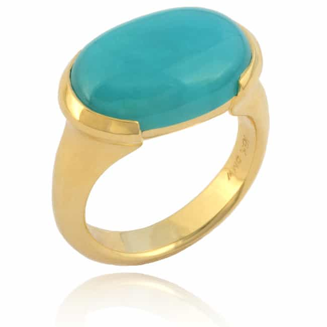 Oval Chrysocolla Ring 23-897 Image