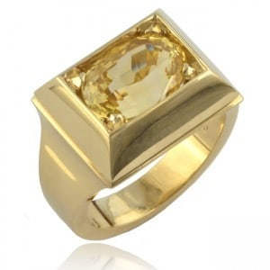 Oval Yellow Sapphire Ring Image