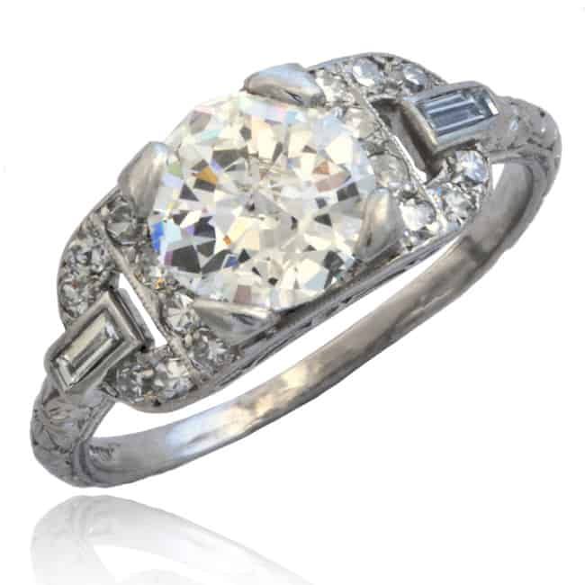 Art Deco Platinum Diamond Ring 6-269 Image