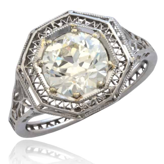 Art Deco Octagon Diamond Ring Image