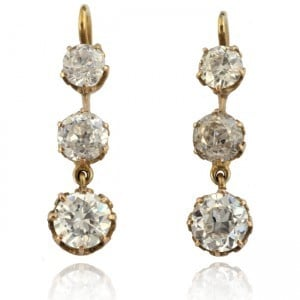 Antique Diamond Pendant-style Earrings Image