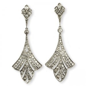 Art Deco Diamond Earrrings Image
