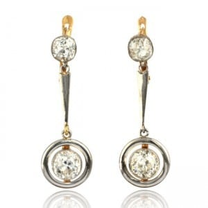 Diamond Pendant-style Earrings Image