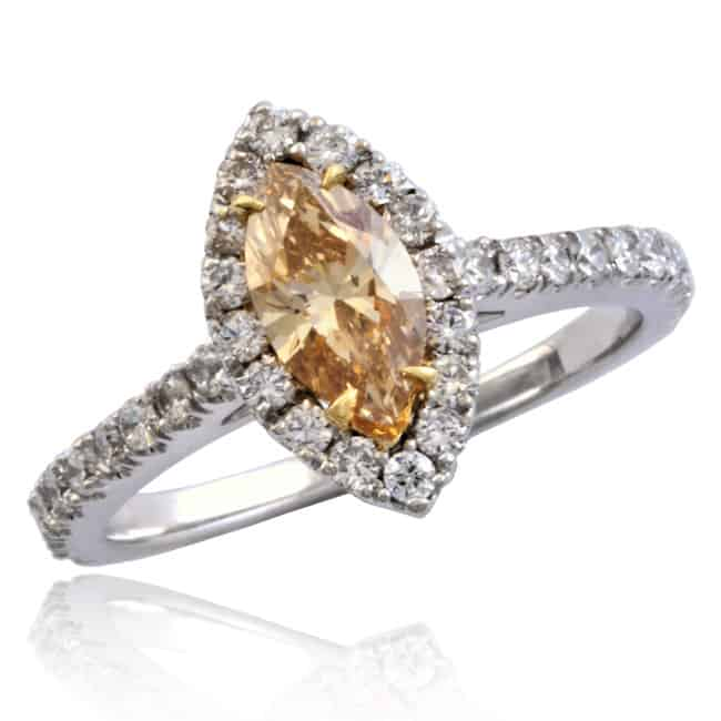 Champagne Marquise Diamond Ring 1-1864 Image