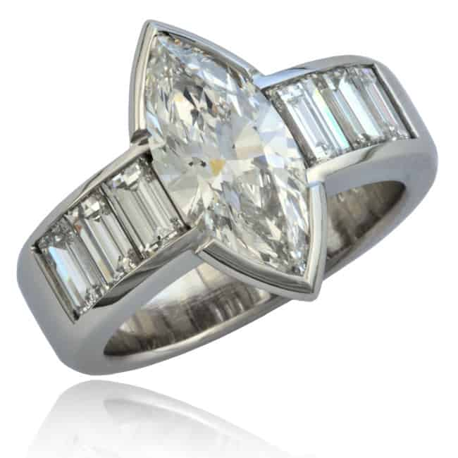 Marquise & Baguette Diamond Ring 23-853 Image