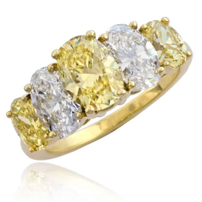 Fancy Yellow Oval Diamond Ring 1-1871 Image