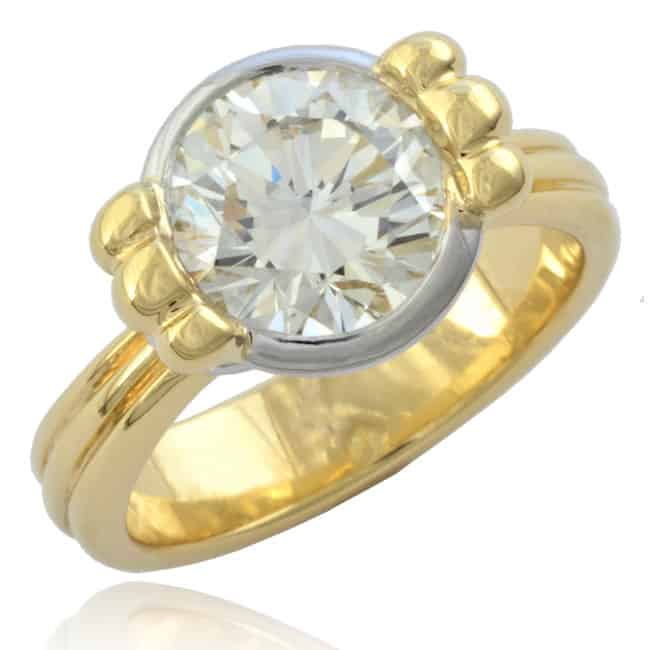 French-revival Diamond Solitaire Ring Image