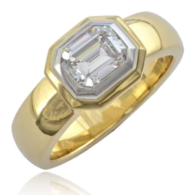 Contemporary Diamond Solitaire Ring 23-659 Image