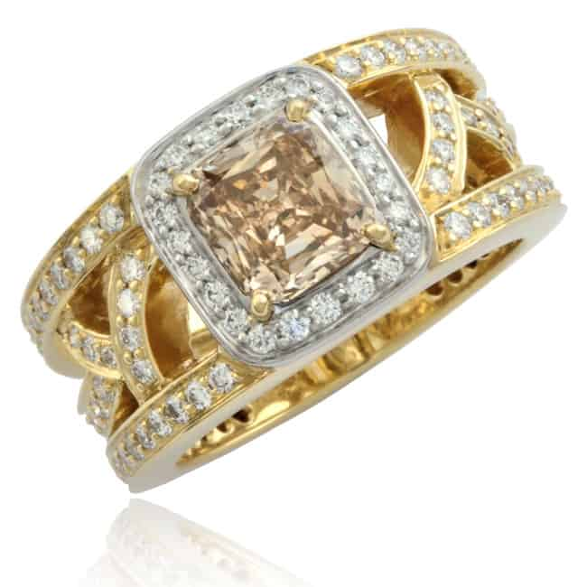 Champagne Diamond Lattice Ring 23-714 Image