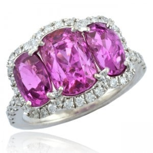 Three Pink Sapphires Image