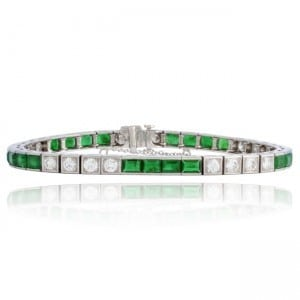 Emerald & Diamond Bracelet Image