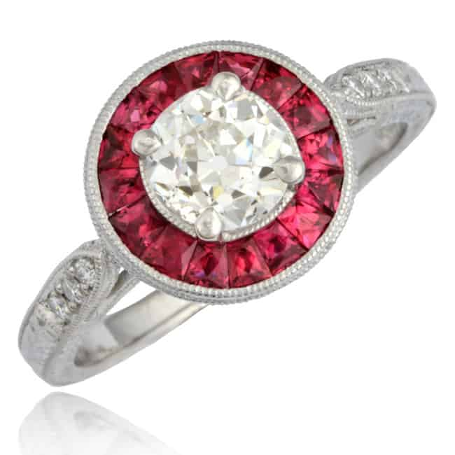 Diamond & Ruby Ring 1-1812 Image