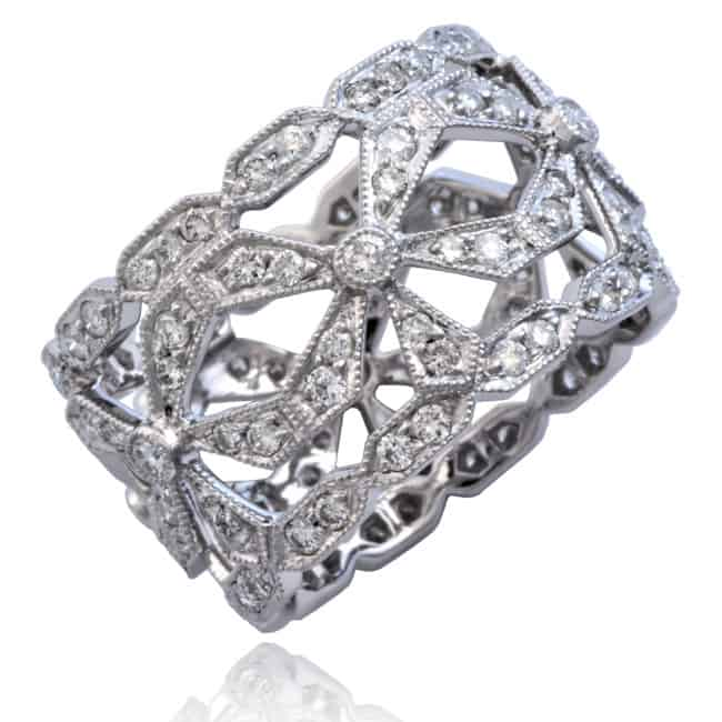 Diamond Open Bow Ring Image
