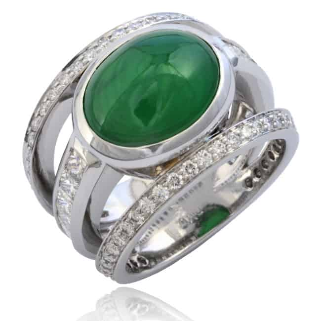 Jade & Diamond Triple Ring 23-674 Image