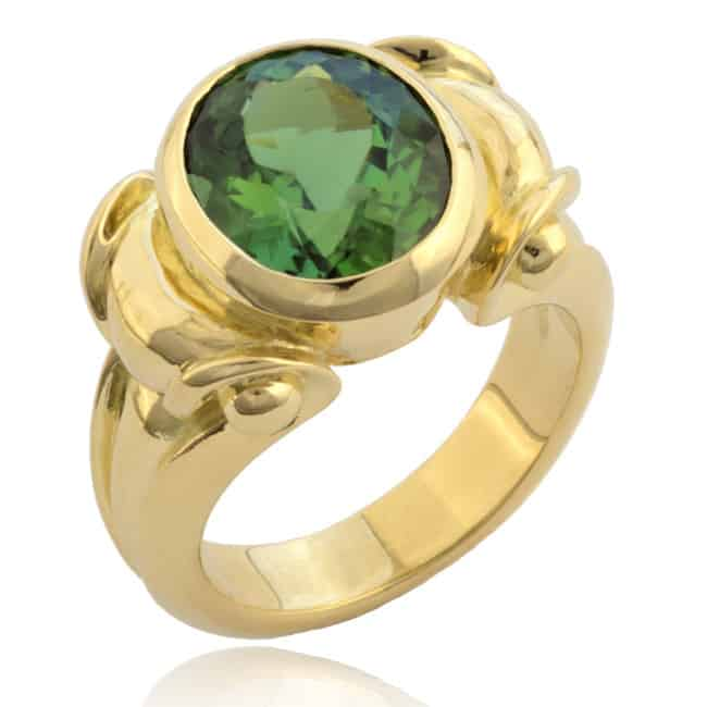 Oval Green Tourmaline Ring 23-911 Image