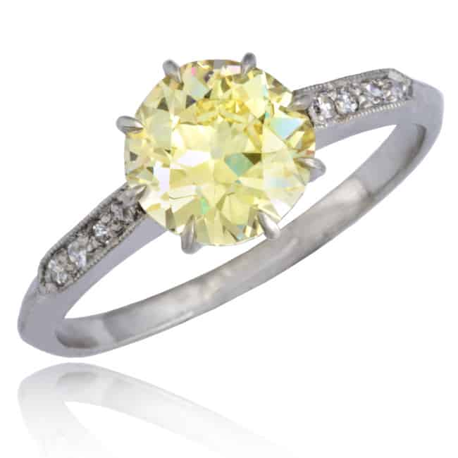 Fancy Yellow Diamond Solitaire Ring 6-172 Image