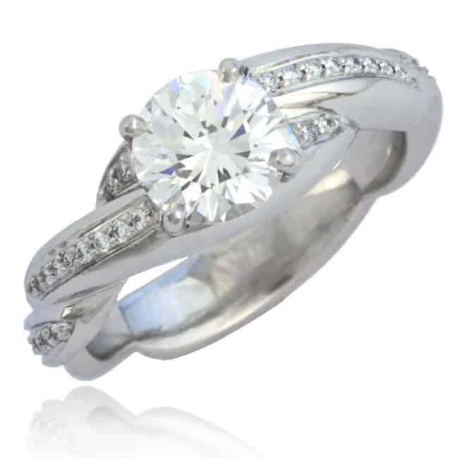 Twisted shank Diamond Engagement Ring 23-650 Image