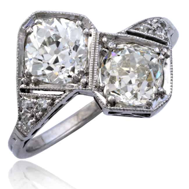 "Art Deco ""Forever Us"" Diamond Platinum Ring Image"