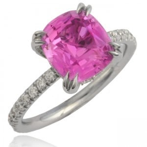 Natural Pink Sapphire Thread Ring Image
