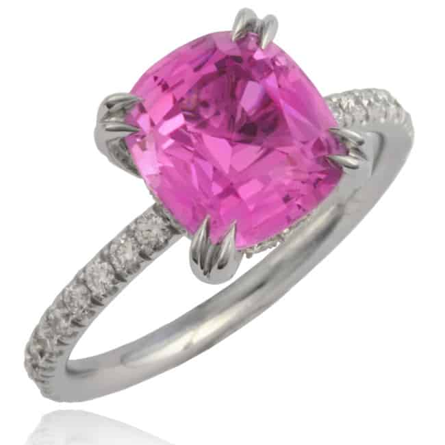 Natural Pink Sapphire Thread Ring 20-560 Image