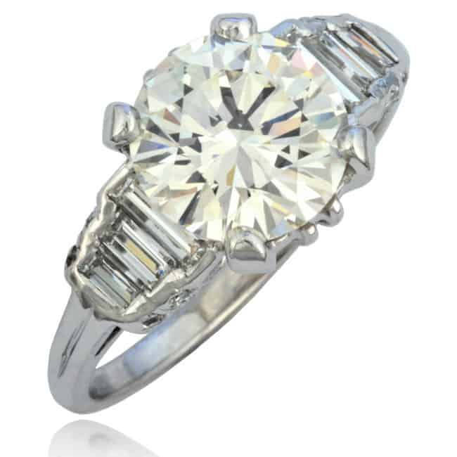 Vintage Platinum Diamond Ring 6-304 Image