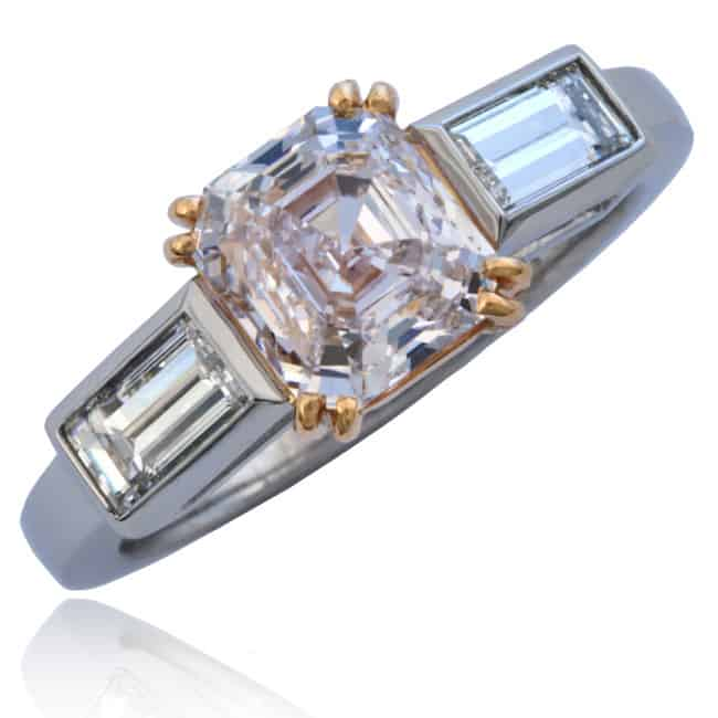 Light Pink Diamond Ring 23-844 Image