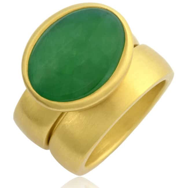 Imperial Green Jade Ring 6-277 Image