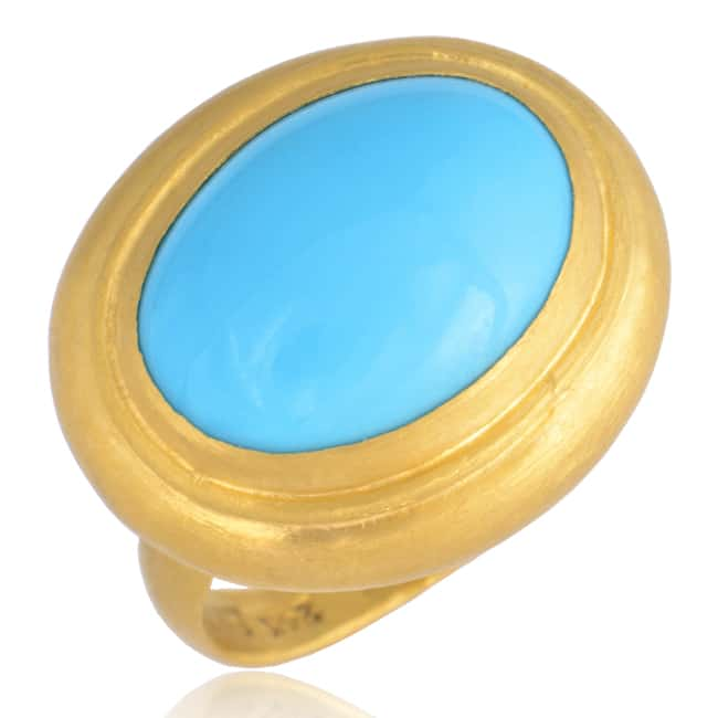 """Sleeping Beauty"" Turquoise Ring, set in 24k Gold 22-1697 Image"