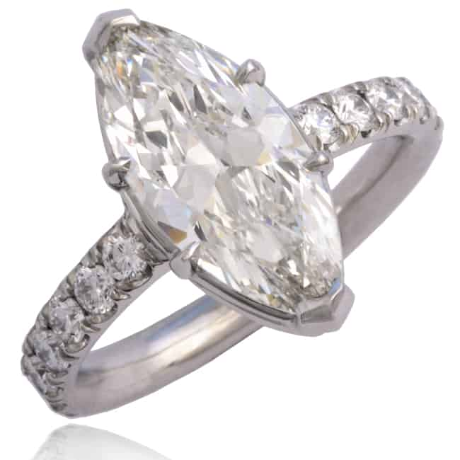 Marquise Diamond Engagement Ring 23-962 Image