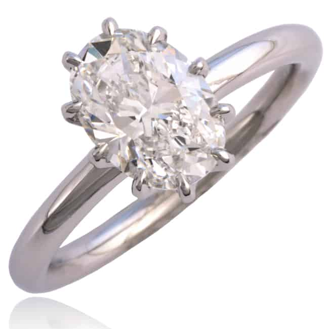 Oval Diamond Engagement Ring 23-965 Image