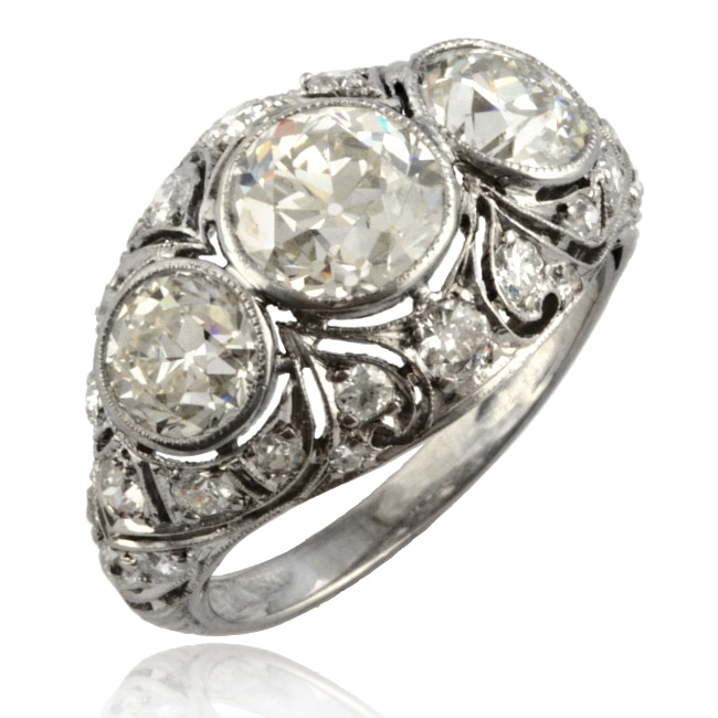Art Deco Diamond Ring 6-241 Image