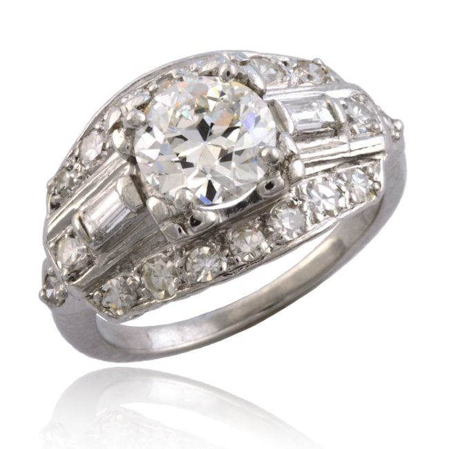 Art Deco Diamond Ring 6-59 Image