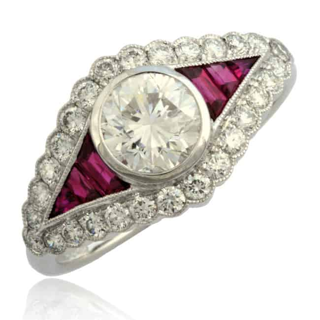 Diamond & Ruby Ring 1-1832 Image