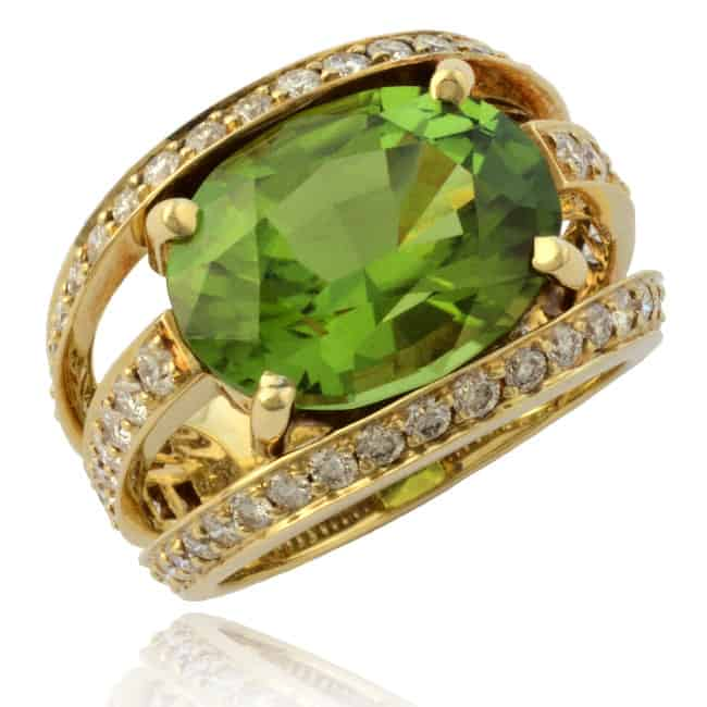 Peridot & Diamond Ring 23-668 Image