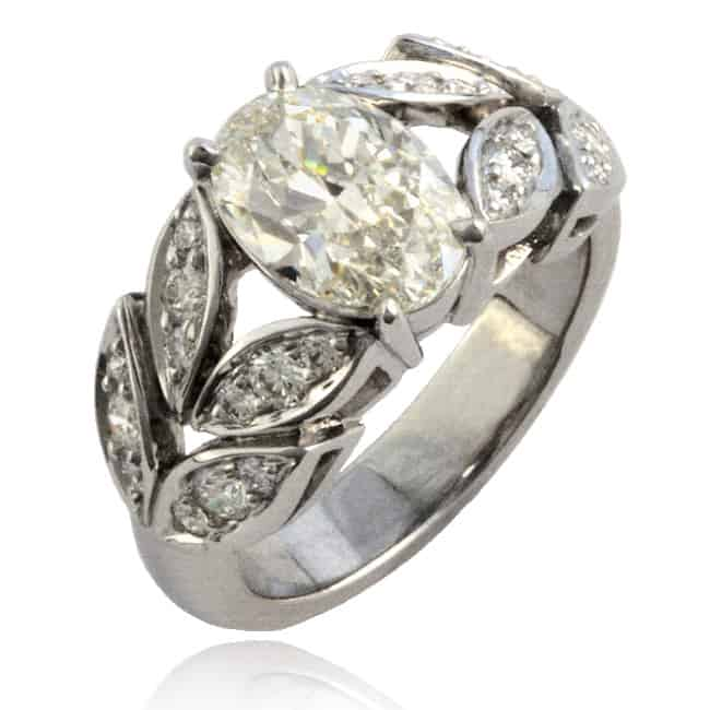Oval Diamond Ring 23-852 Image