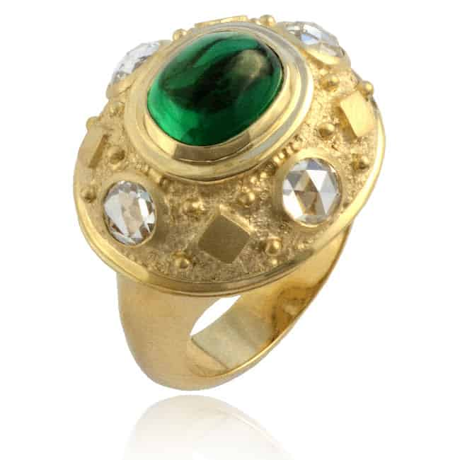 Tsavorite & Diamond Ring 23-878 Image