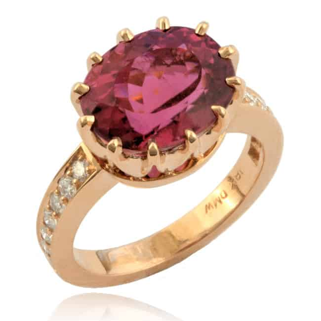Rubelite & Diamond Ring 23-905 Image