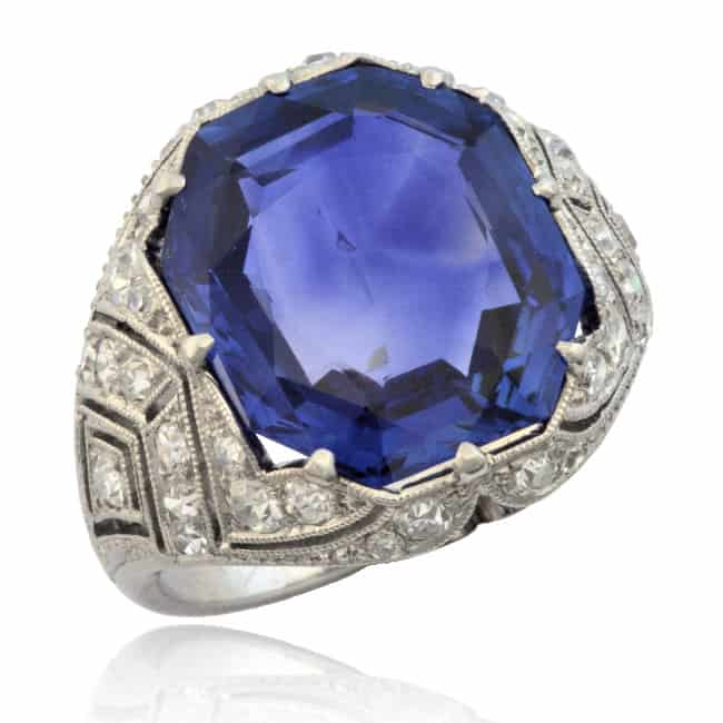 Natural Sapphire & Diamond Ring 30-839 Image